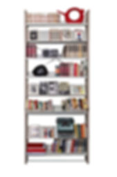 L,UNICA - libreria acero + metallo
