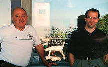 Bainbridge Island Dentist Todd H. Adams with his father Harmon F. Adams
