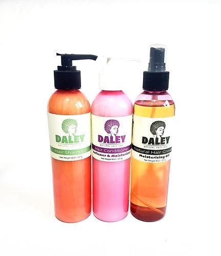Hair Shampoo + Hair Conditioner + Natural Hair Growth Oil