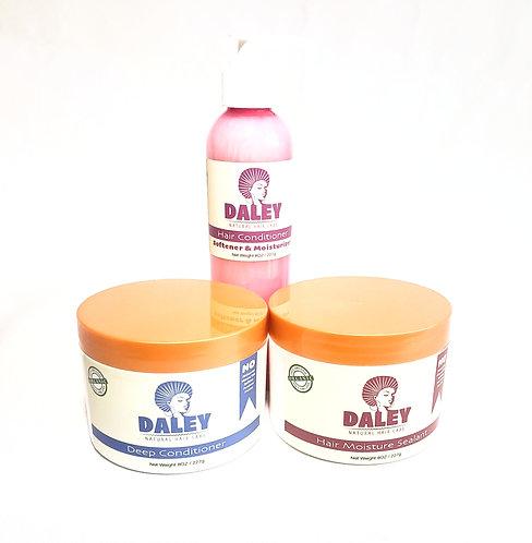 Natural Deep Conditioner + Natural Hair Moister Sealant + Shampoo