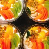 bowl de fromage blanc aux fruits
