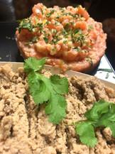 Tartare aux deux saumons & duxelle de champignons