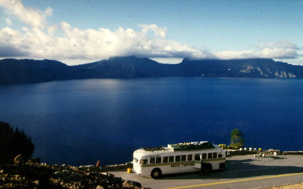 Bus at Crater Lake
