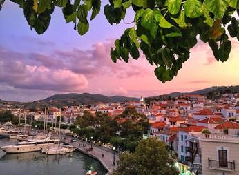 View of Skopelos port from Vrachos