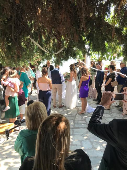 Wedding in Skopelos Greece