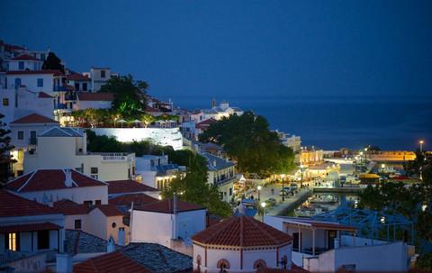 Magic night view by Skopelos island