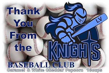Knights Baseball Club label Caramel & Wh
