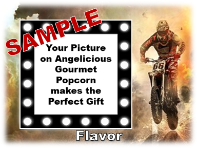 2-3.8 Cup bags of Gourmet Popcorn. Motorcycles & your picture on the label.