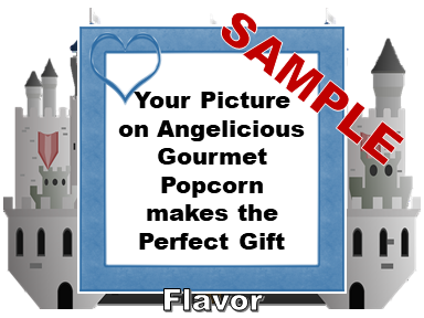 2-3.8 Cup bags of Gourmet Popcorn. Castle & your picture on the label.