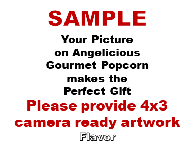 2-3.8 Cup bags of Gourmet Popcorn. Blank & your picture on the label.