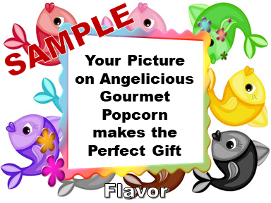 2-3.8 Cup bags of Gourmet Popcorn. Fish & your picture on the label.