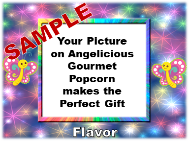 2-3.8 Cup bags of Gourmet Popcorn. Unicorns & your picture on the label