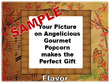 2-3.8 Cup bags of Gourmet Popcorn. Music Notes & your picture on the label.