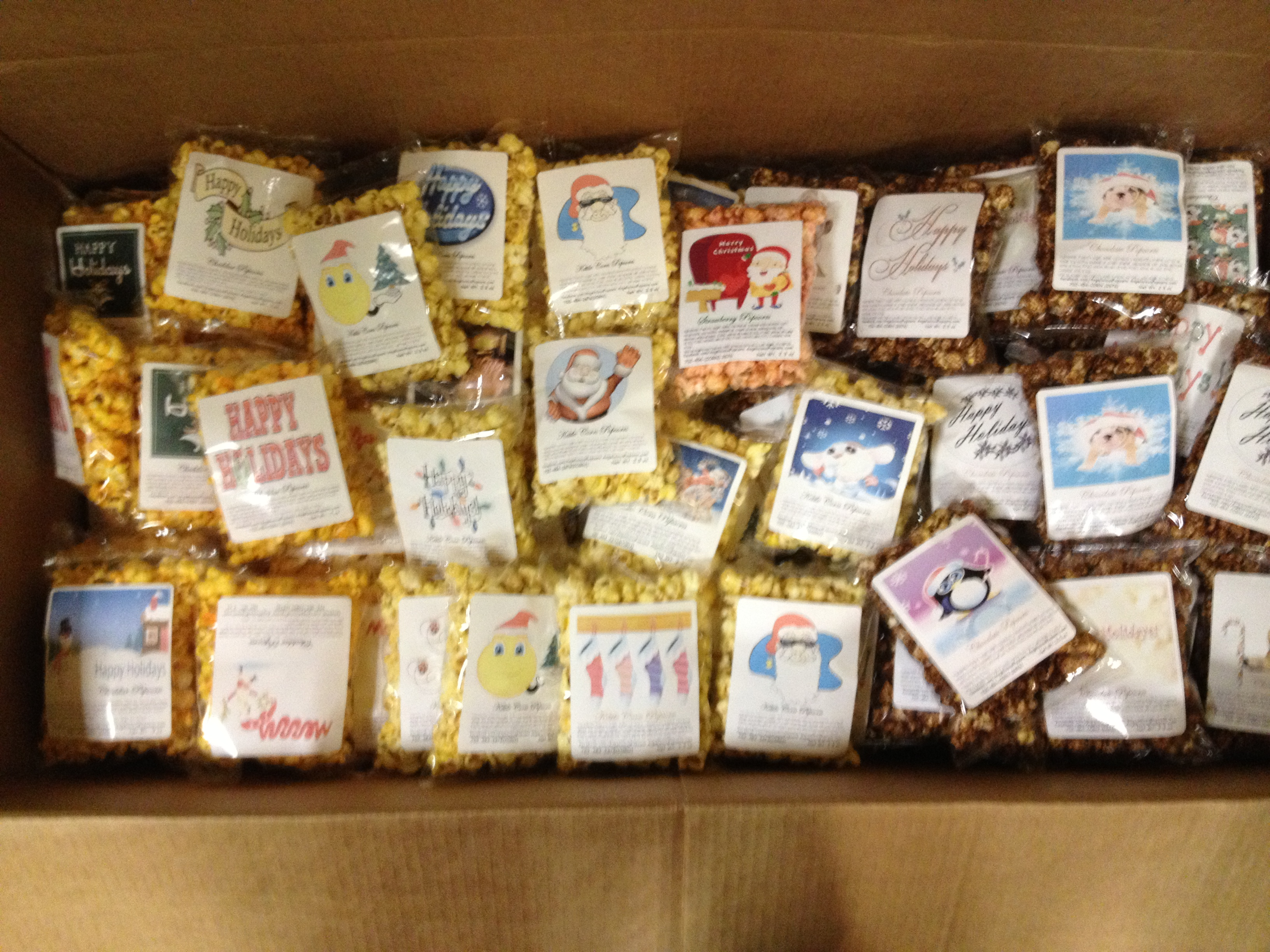 Popcorn, Personalized popcorn favors
