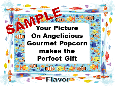 2-3.8 Cup bags of Gourmet Popcorn. Fish & your picture on the labe