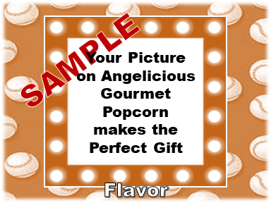 2-3.8 Cup bags of Gourmet Popcorn. Baseball & your picture on the label.