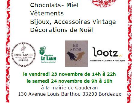 Vente de Noël à Bordeaux Caudéran