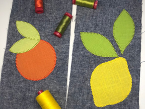 Gorgeously Textured Applique with 12wt Aurifil