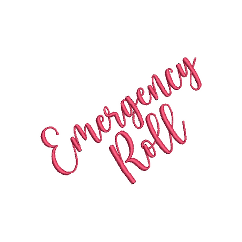 Emergency Roll Embroidery Design