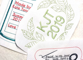 Creating Your Own Machine Embroidered Quilt Label