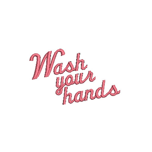 Wash Your Hands Solo Embroidery Design