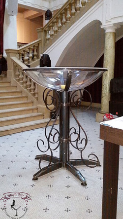 Das rustikale Martinishowglas.