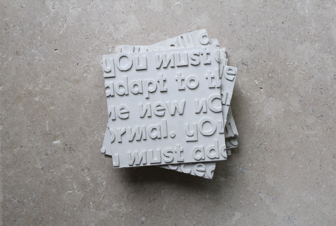 Typography in clay