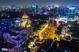 czech city at night