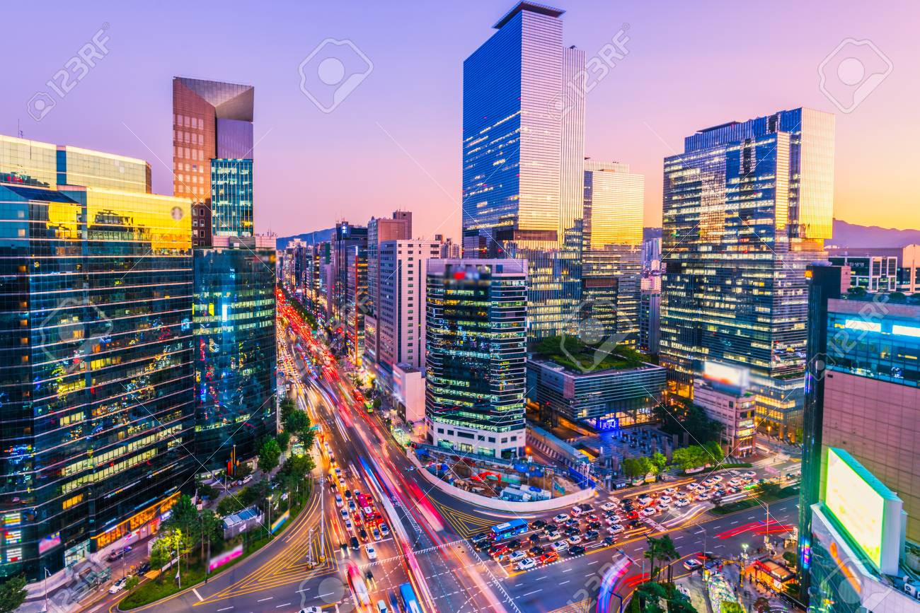 bright korean city