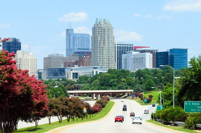 big city on highway