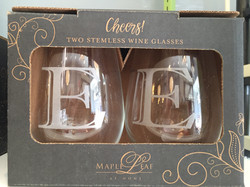 Maple Leaf Initial Glasses