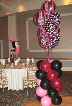 Pink Balloon Columns