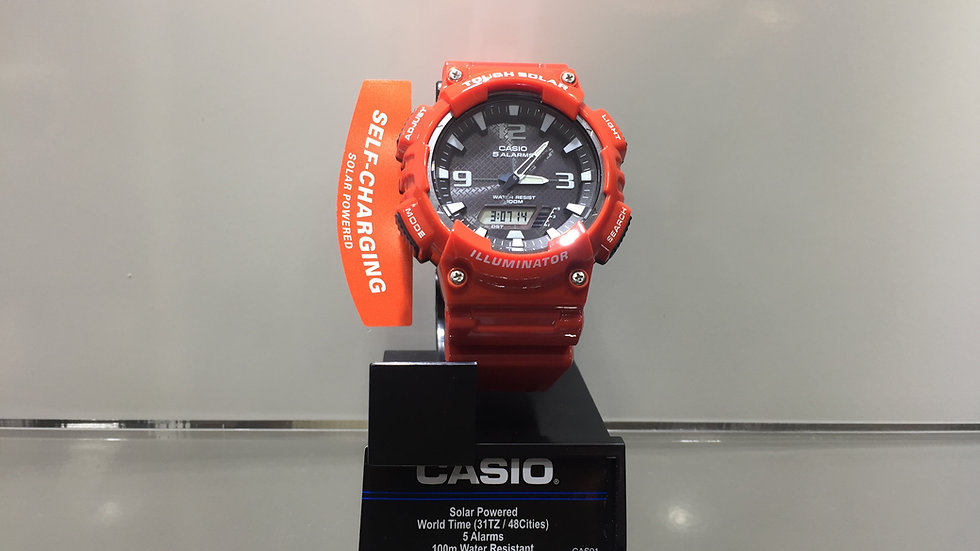 Casio Solar Powered World Time (31TZ / 48 Cities) 100m Water Resistant.