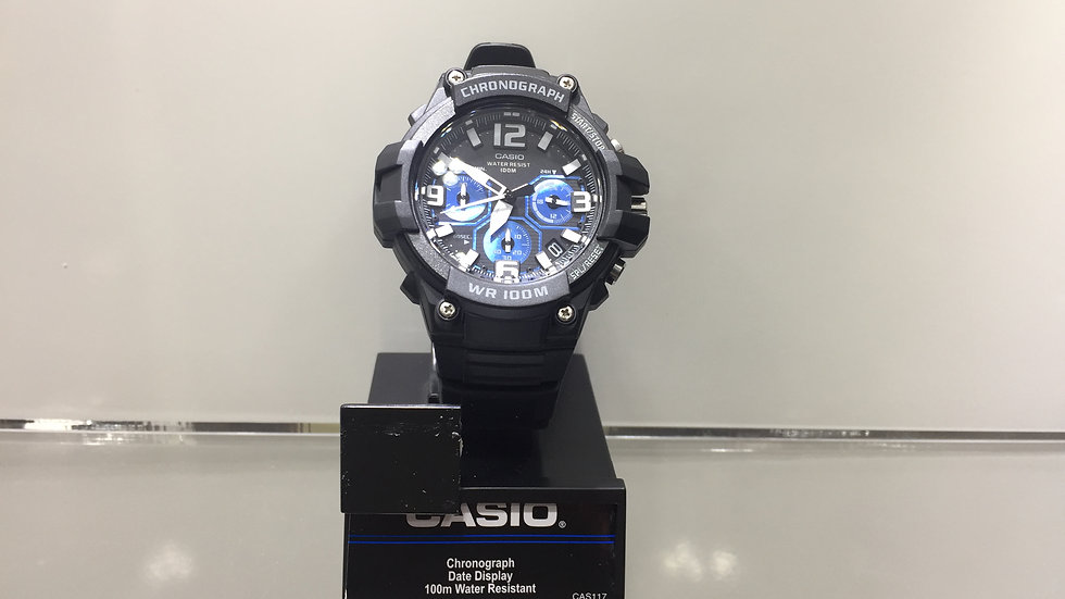 Casio Chronograph Date Display 100m Water Resistant.