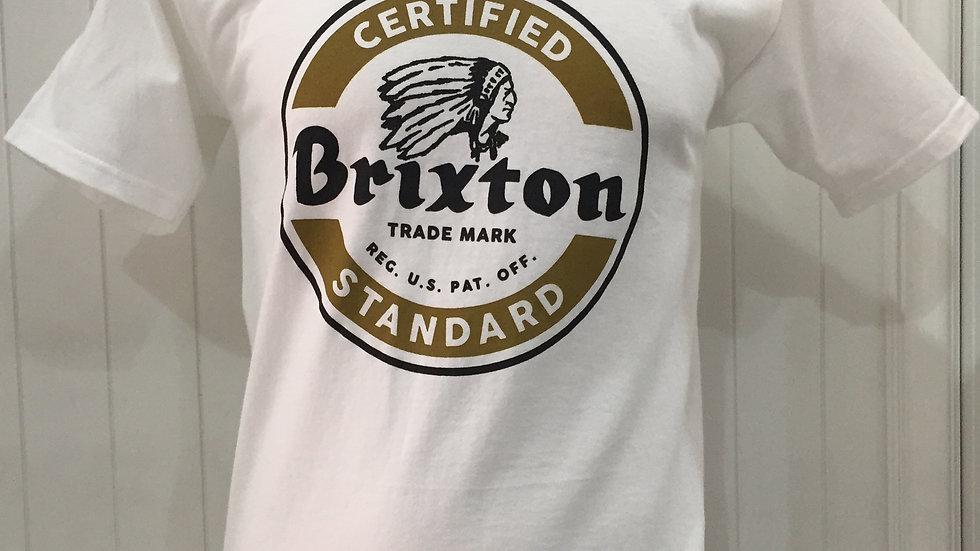 Playera Brixton SOTO,  STANDART FIT 100% algón,color: blanco