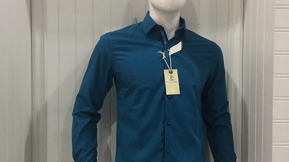 Camisa Nauttish 100% algodón, Entretela Holandesa 100% algodón.