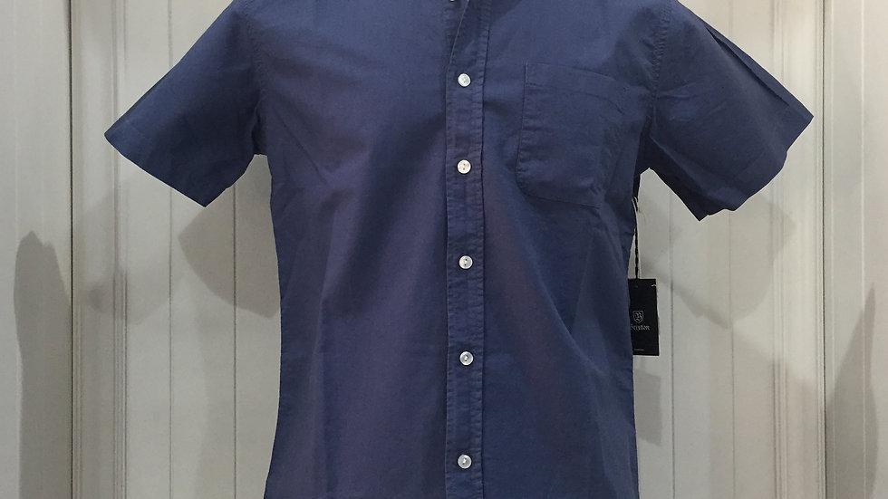 Camisa Brixton, 100% algodón, color verde azul.