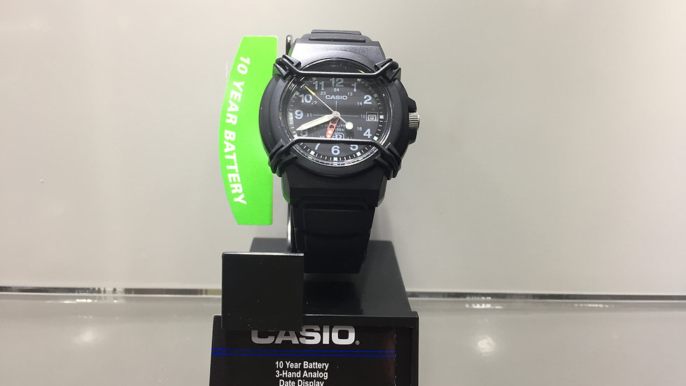 Casio 10 Year Battery 3-Hand Analog Date Display 100m Water Resistant.