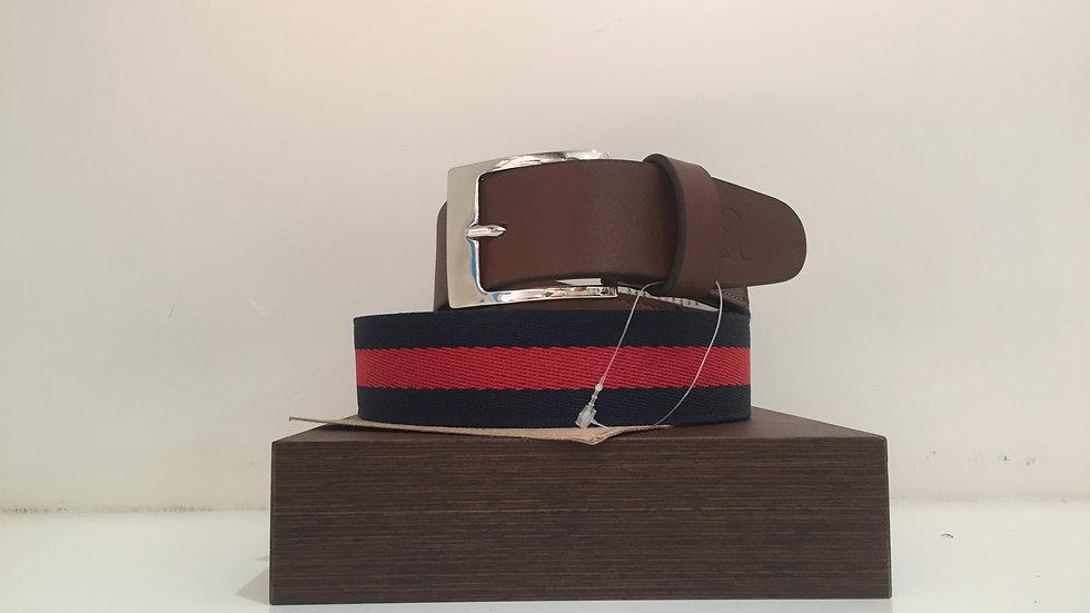 Cinturón Corda de piel estampado de tela