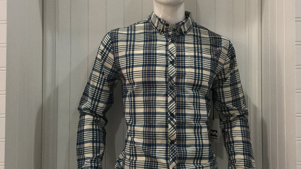 Camisa Billabong Redford LS Shirt 55% algodón 45% poliester.