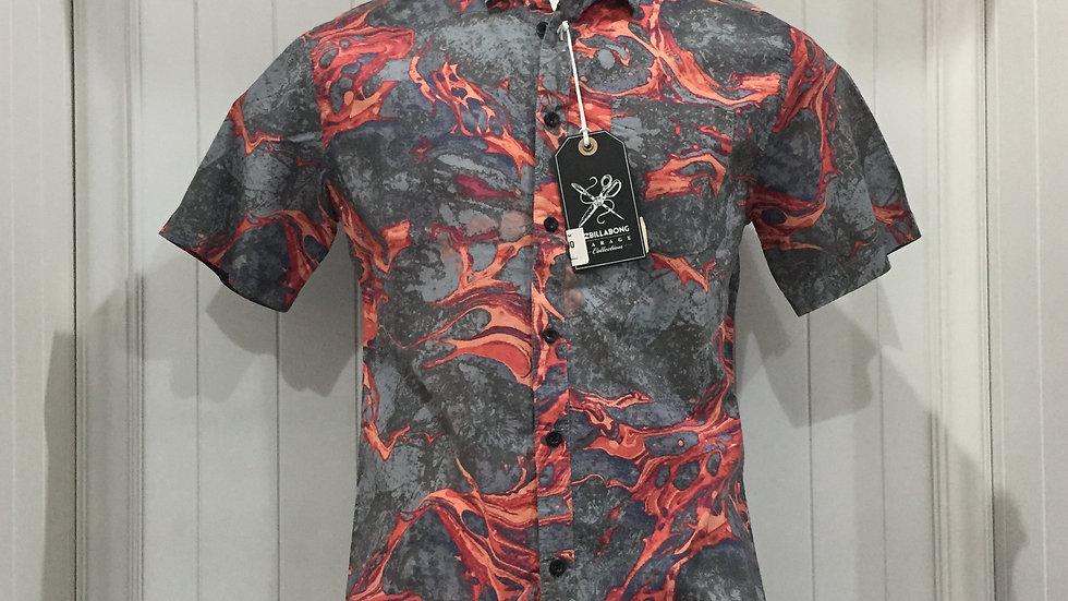 Camisa Billabong Melted, Stretch 100% algodón.