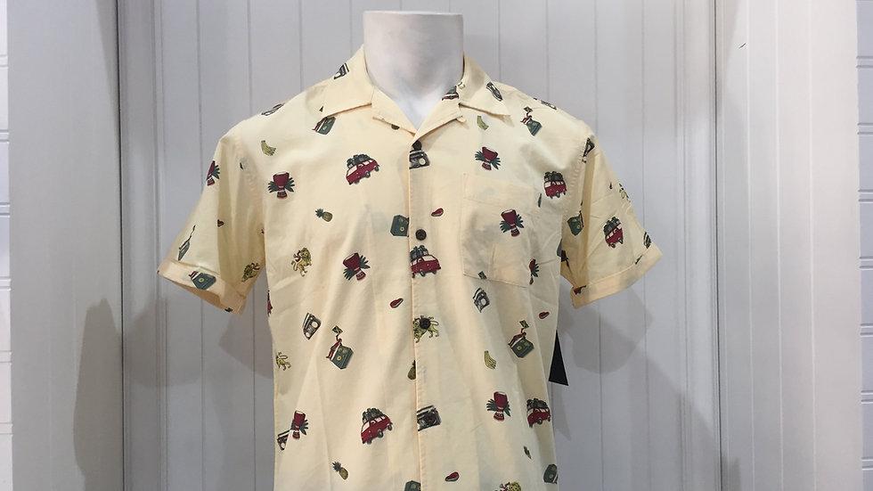 Camisa Hurley KingstonSS 55% Algodón, 45% Rayón.