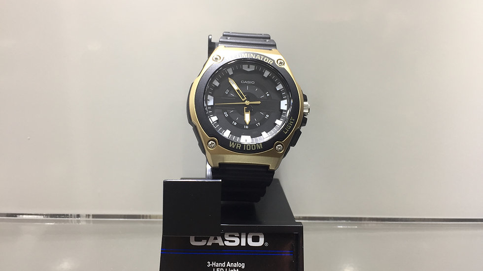 Casio- Hand Analog LED Light 100m Water Resistant.