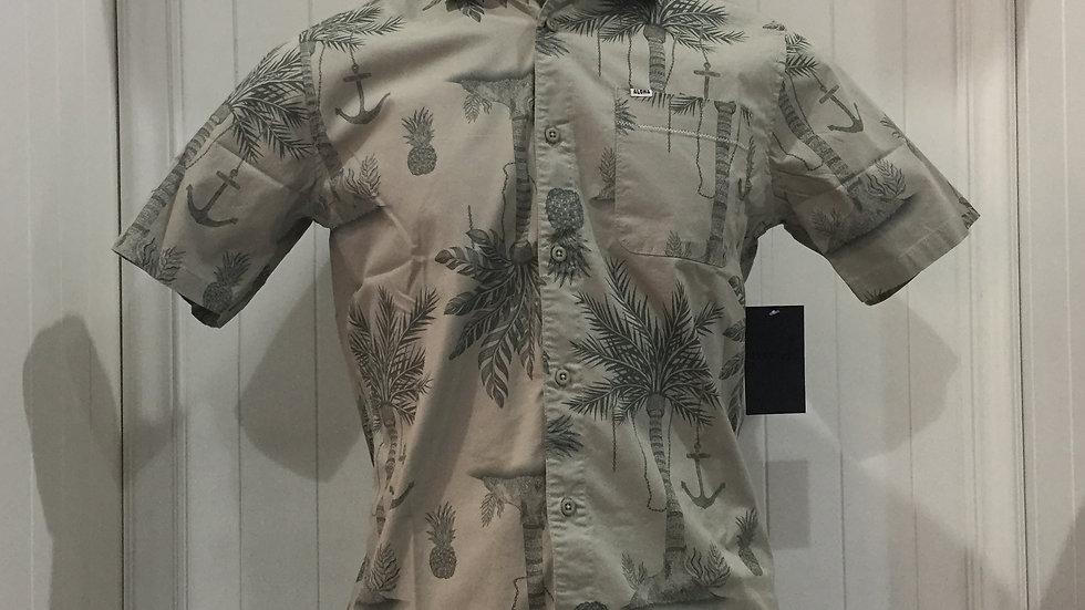 Camisa Hurley Asylum , Stretch, 98% algodón, 2% Elastano