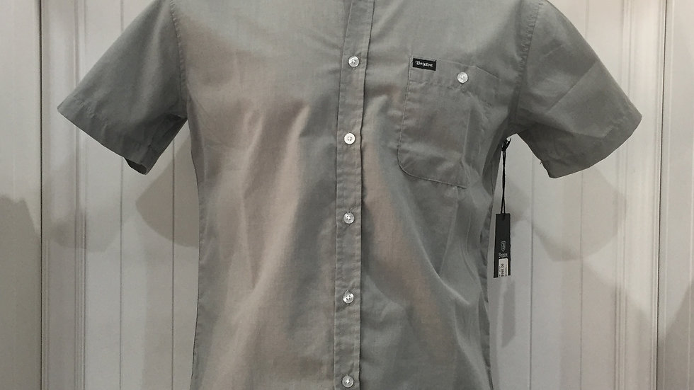 Camisa Brixton, 45% poliester, 55% algodón, color verde olivo.