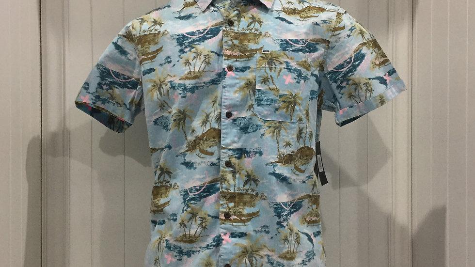 Camisa Hurley Mxtape Outrgr Smley Top SS, Stretch, 100% algodón