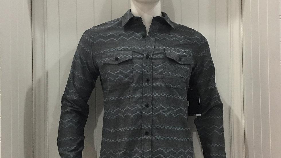 Camisa Hurley OAo 2.0 tOP LS, 100% poliester.