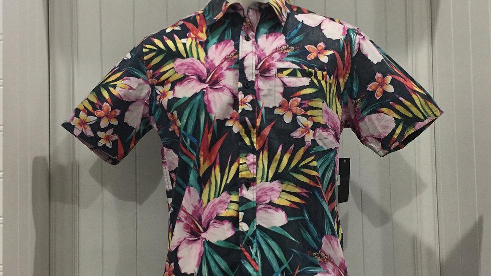 Camisa Hurley GardenTop SS, Stretch, 100% algodón,