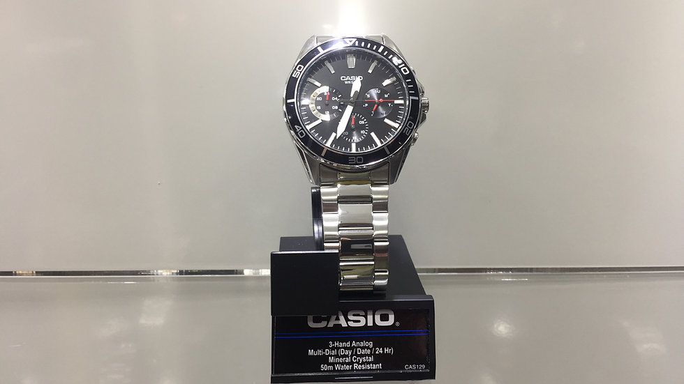 Casio 3-Hand Analog Multi-Dial (Day/Date/24Hr)