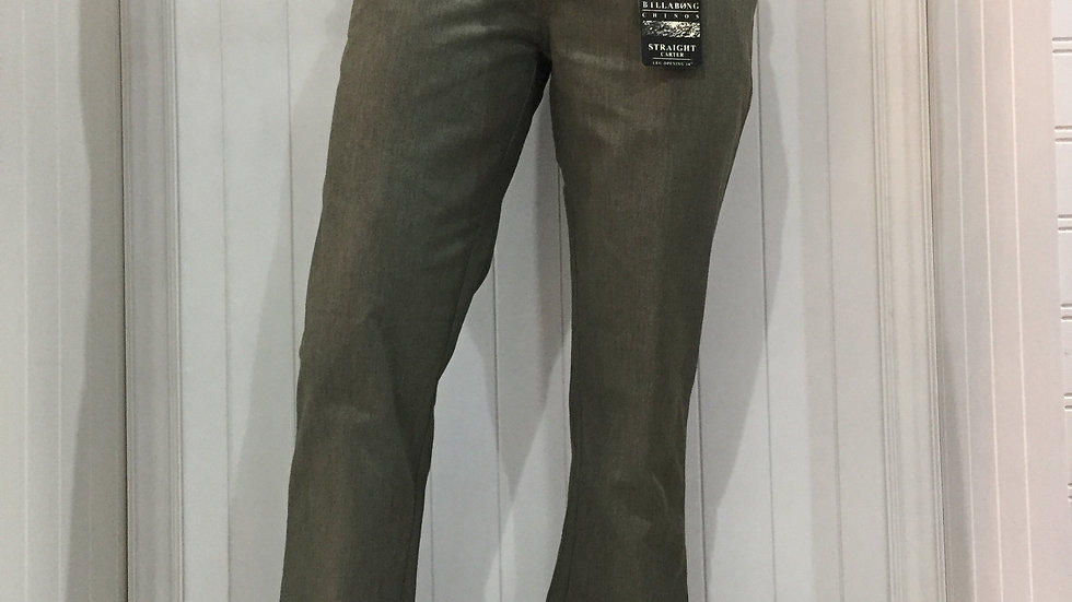 Pantalón Billabong Carter Straight Fit, Corte chino, Olivo,